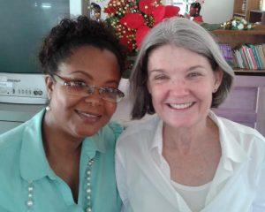 Simone Sills with Joan Robertson from John Snow Inc